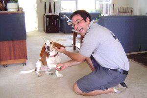 Todd and basset hound
